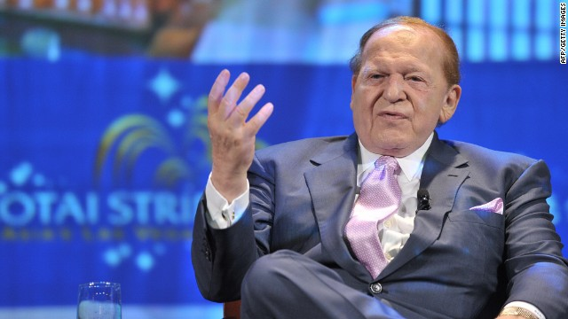 Casino mogul Sheldon Adelson, seen here in 2008, is credited with boosting Newt Gingrich's campaign with a $5m contribution to a SuperPAC supporting the GOP candidate.