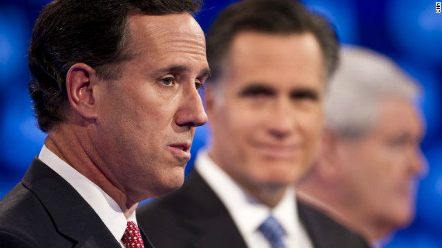 Rick Santorum participated in the CNN South Carolina Republican Debate in Charleston on Thursday, January 19, 2012