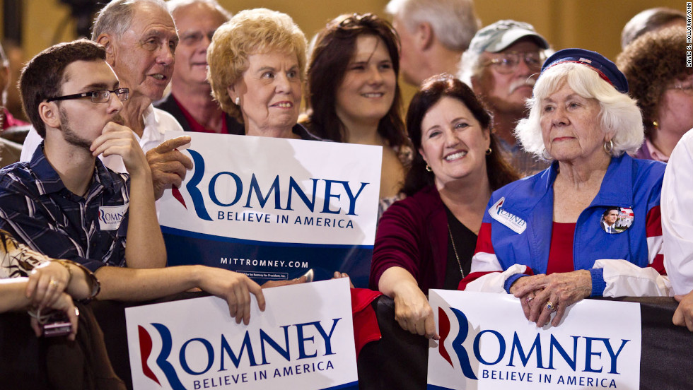 Mitt Romney supporters gather during his Grassroots Rally in North Charleston.