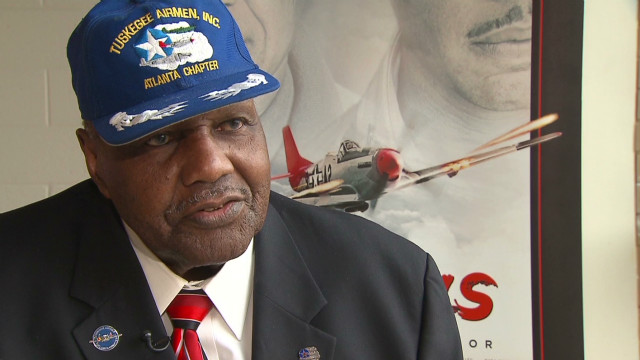 Tuskegee Airman honored by 'Red Tails'