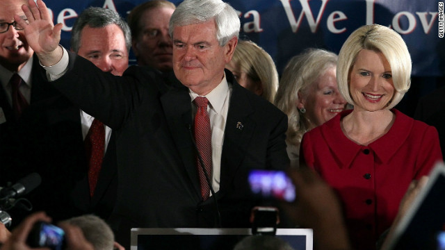Former House Speaker Newt Gingrich addressed supporters after winning the South Carolina GOP primary Saturday night.