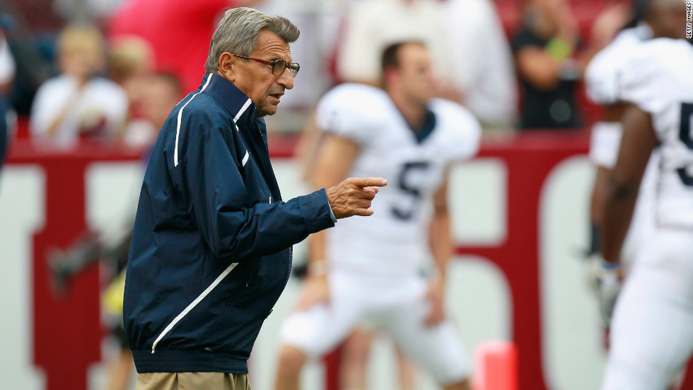 "Longtime Penn State Coach <a href=""http://www.cnn.com/2012/01/22/us/pennsylvania-obit-paterno/index.html"" target=""_blank"">Joe Paterno</a> -- whose tenure as the most successful coach in major college football history ended abruptly in November 2011 amid allegations that he failed to respond forcefully enough to a sex abuse scandal involving a former assistant -- died January 22, his family said. He was 85."