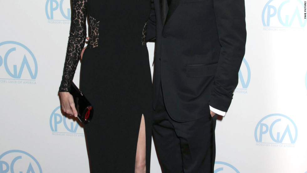 Angelina Jolie, Brad Pitt attend the Producers Guild Awards in Los Angeles.