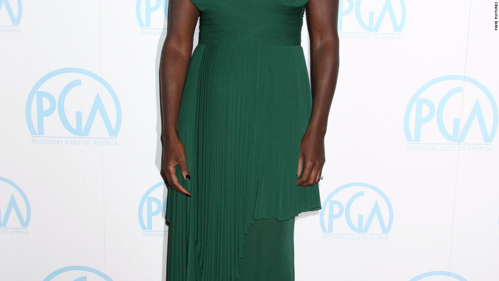 Viola Davis attends the Producers Guild Awards in Los Angeles.