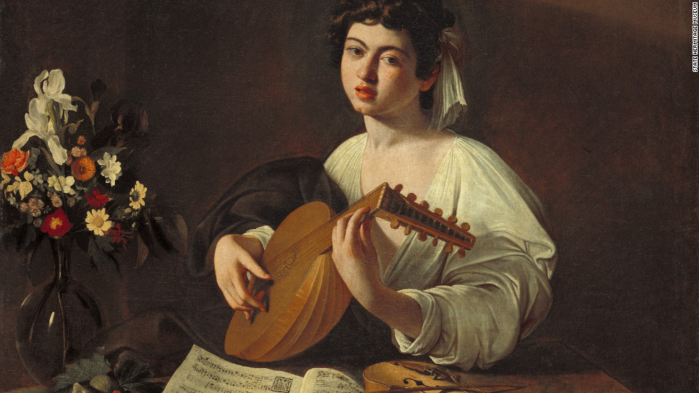 "Also included in the 180-item exhibit in Spain is ""Lute Player,"" by Caravaggio."