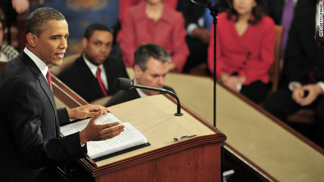 Barack Obama at the State of the Union in 2012.