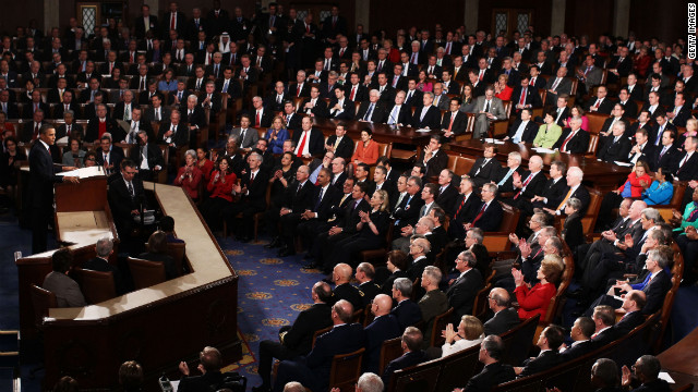 President Obama addresses a joint session of Congress.