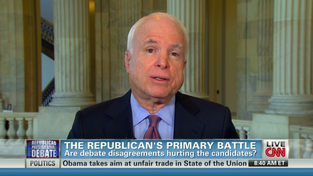 McCain:  There should be fewer debates