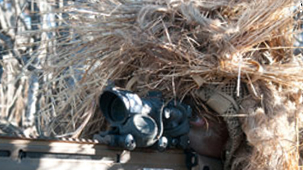 The SEALs have expert snipers, able to blend in wherever they are.