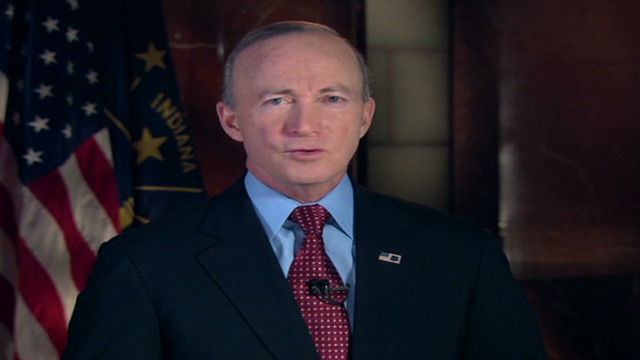 Gov. Mitch Daniels gives GOP response