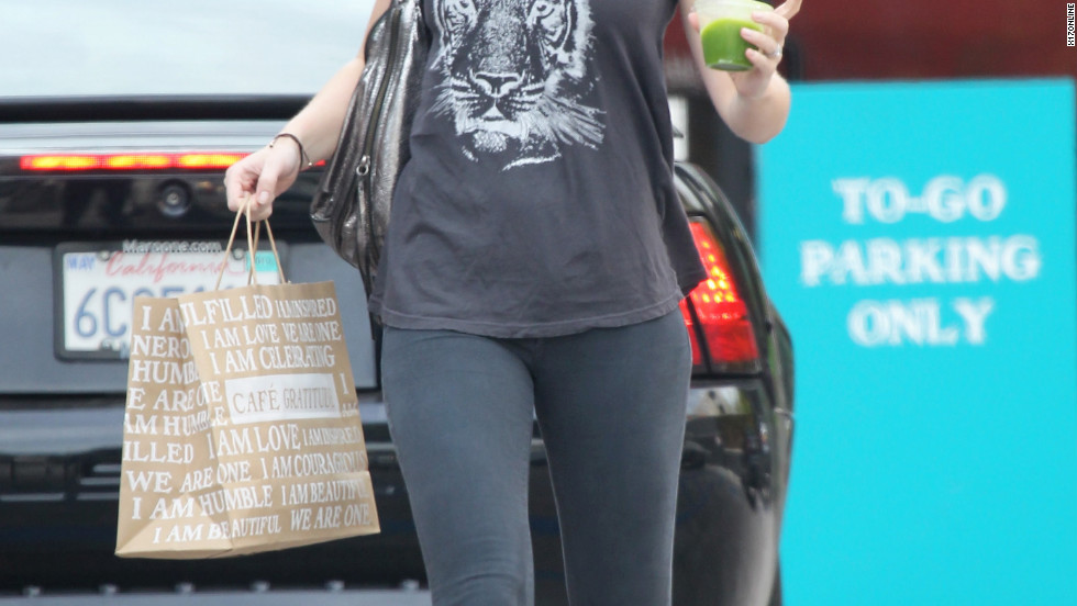 Emily Blunt goes shopping in Beverly Hills.