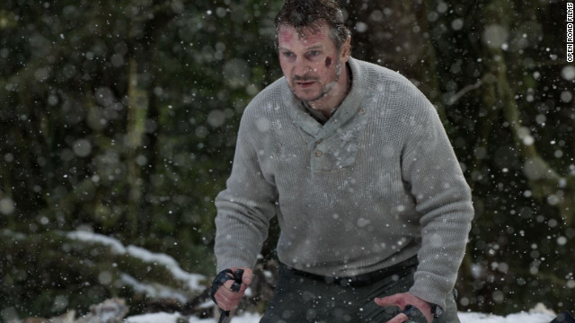 "In ""The Grey,"" Liam Neeson quickly emerges as the leader of the men."