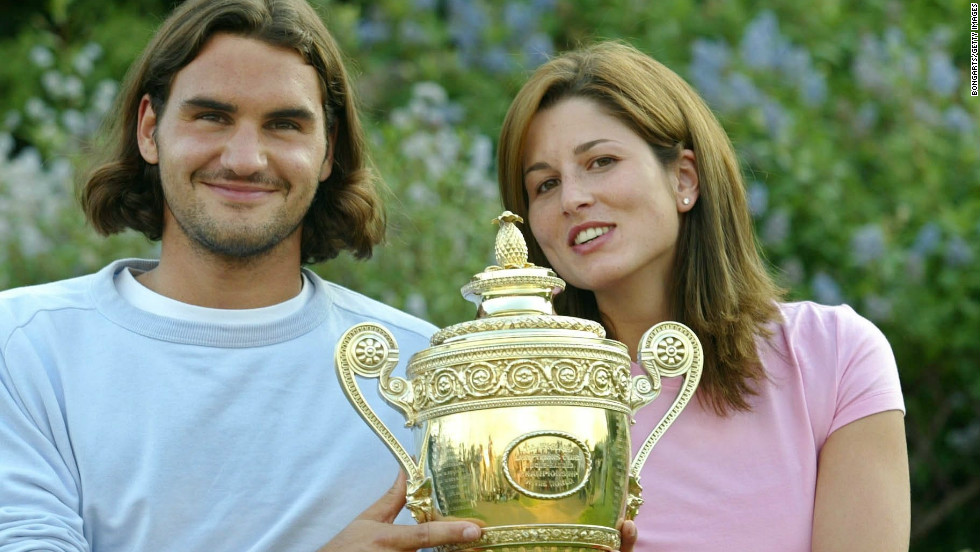 "Roger Federer met Mirka Vavrinec at the Sydney Olympics in 2000 when they both represented Switzerland. Mirka says her husband's glittering career has eased her pain after injury forced her retirement in 2002. Of his wife, Roger told the Telegraph newspaper: ""I developed faster, grew faster with her. I owe her a lot."""