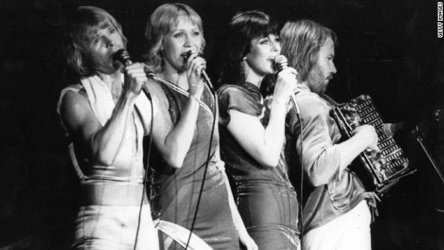 Swedish pop group ABBA perform in a concert on November 7, 1979.