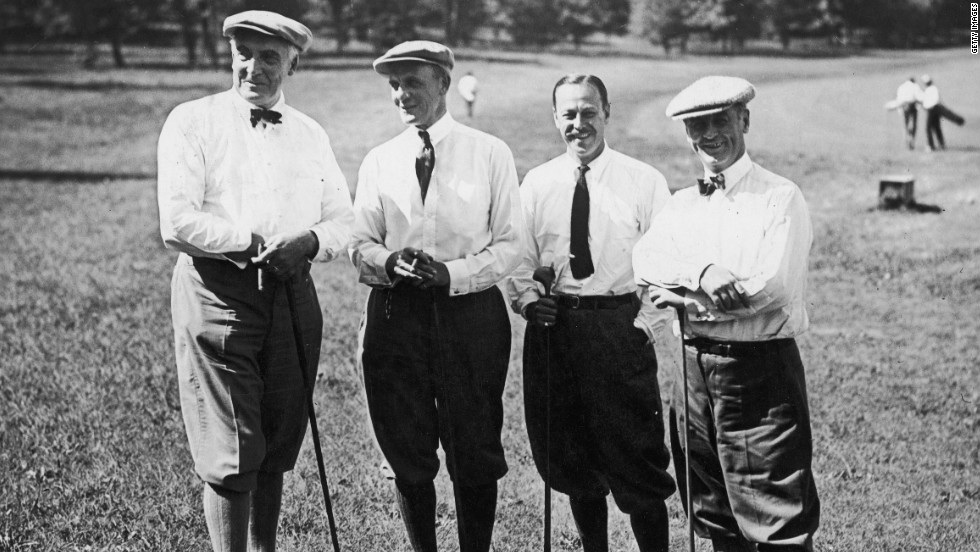 Warren G. Harding, left, the 29th president, also was an avid golfer.