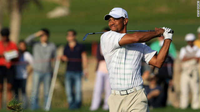 Tiger Woods was pleased with his play in the second round of the Abu Dhabi Golf Championship.