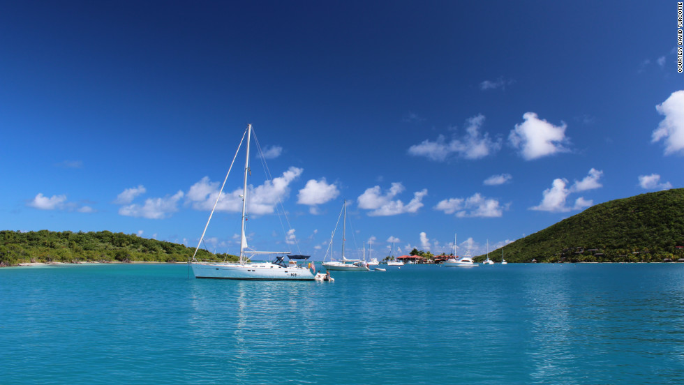 David Turcotte captured this scenic vista during a sailing trip at the Bitter End Yacht Club, located in the North Sound of Virgin Gorda.