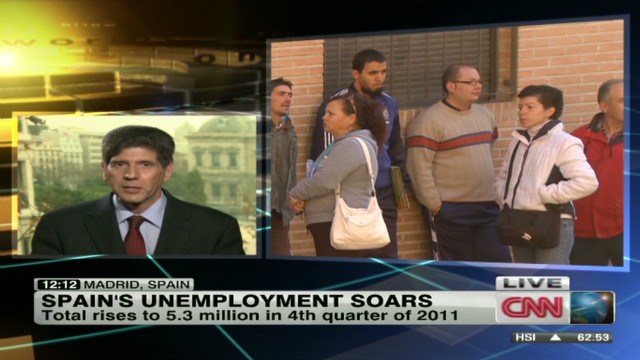 Spain's jobless total hits 5.3 million