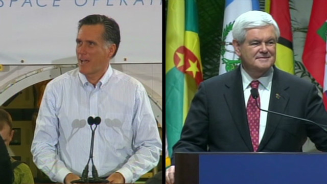 Romney and Gingrich campaign in Florida
