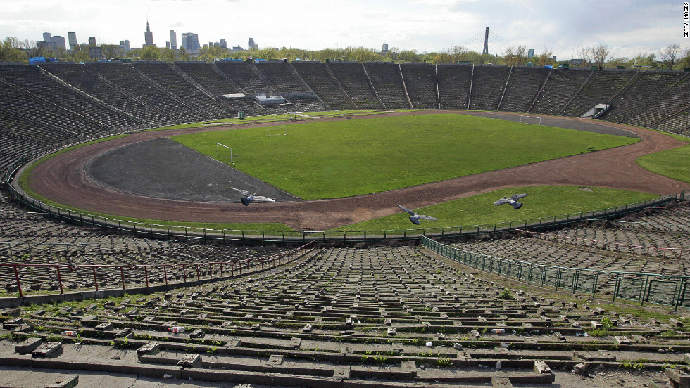 The new 50,000-seater arena is built on the site of the old 10th Anniversary stadium, which was opened in 1955 and welcomed Pope John Paul II in 1983.