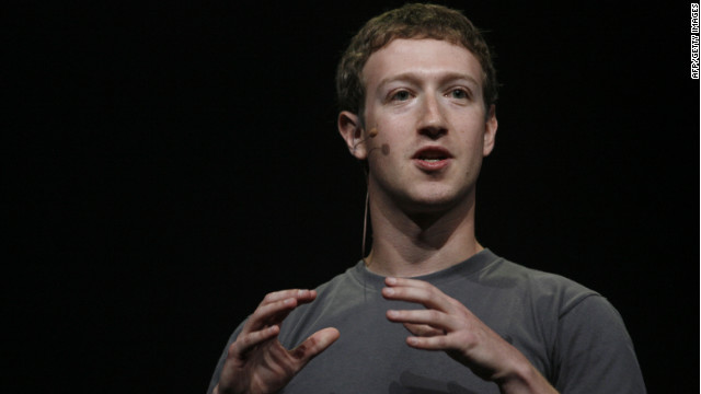 Facebook CEO Mark Zuckerberg at his company's f8 conference in September 2011.