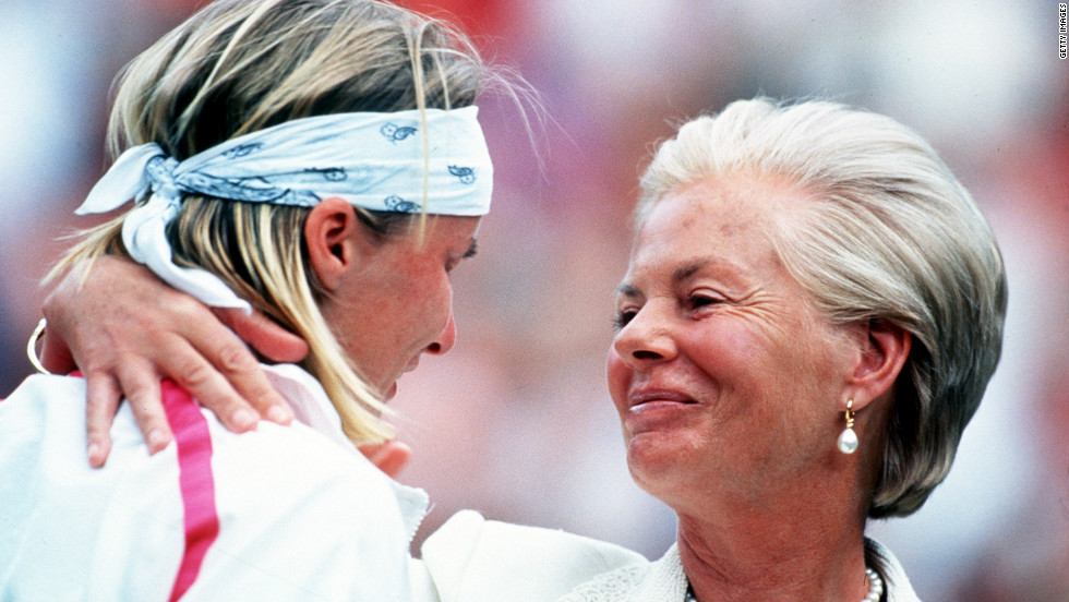 Jana Novotna led 4-1 and 30-15 in the sixth game of the deciding set of her 1993 Wimbledon final against Graf. With glory seemingly inevitable, the Czech fell apart, losing five games in a row to surrender the match. During the trophy ceremony, a teary-eyed Novotna was comforted by the Duchess of Kent. Five years later, Novotna finally secured a Wimbledon triumph, becoming the oldest first-time grand slam winner in the Open era -- a record now held by Italy's 2010 French Open champion Francesca Schiavone.