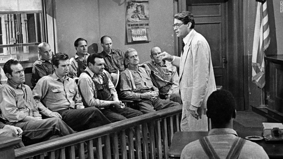 Atticus Finch delivers his closing argument to the jury.