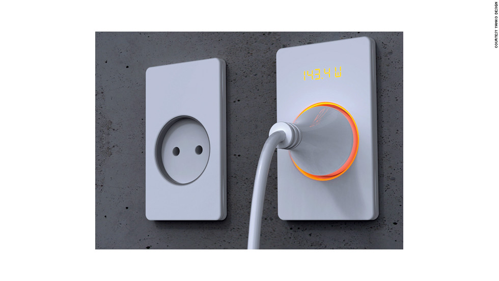 Designer Muhyeon Kim has designed a switch that displays how much power it is using. Research has found that people are more conscious of their energy use when they can see it in action.