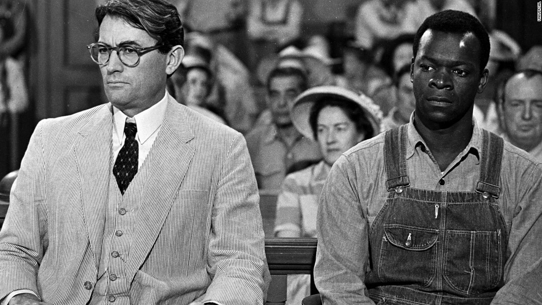 "The book ""To Kill a Mockingbird"" was published July 11, 1960. In 2014, it became an <a href=""http://www.cnn.com/2014/07/11/living/to-kill-a-mockingbird-e-book-anniversary-books/"">e-book for the first time</a>. The novel by Harper Lee was turned into a movie staring Gregory Peck, left, as Atticus Finch and Brock Peters as Tom Robinson."