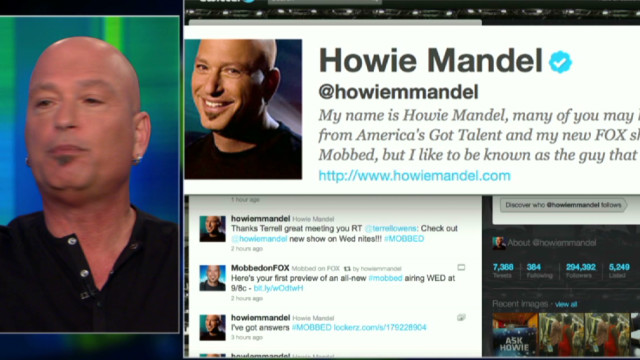 Mandel, Piers argue over Twitter