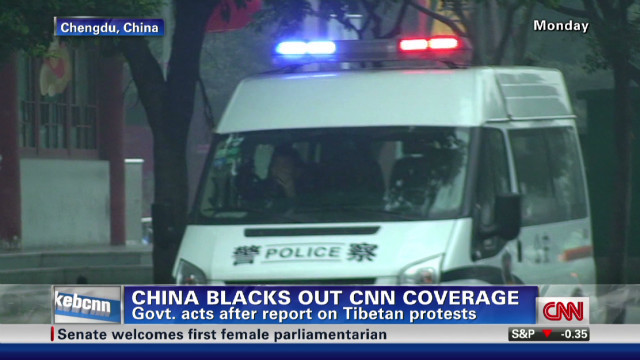 CNN story blacked out in China