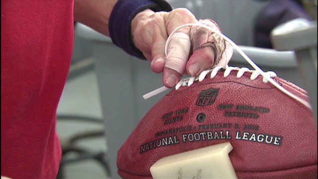 Handcrafting footballs for the big game