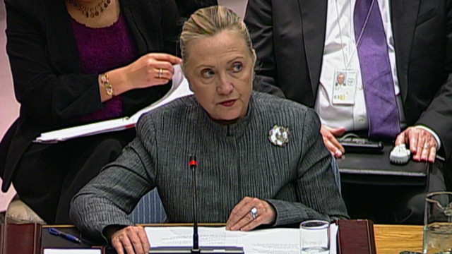 Clinton talks support for Syrians