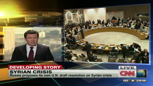 Russia proposes Syrian resolution