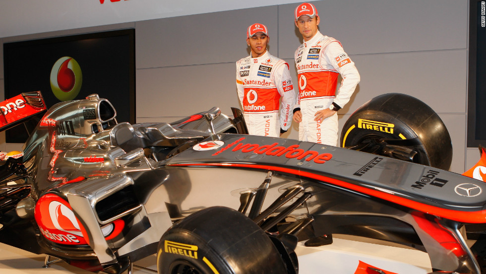 McLaren's Lewis Hamilton (left) and Jenson Button have both won the F1 drivers' championship. Hamilton claimed the title in 2008, while Button did so with Brawn GP in 2009.