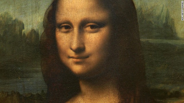"Leonardo da Vinci's ""Mona Lisa"" portrait hangs in the Louvre museum in Paris, France."