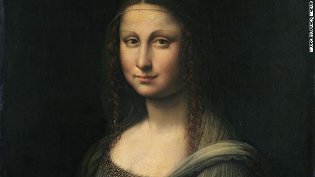 A contemporaneous copy of Leonardo da Vinci's Mona Lisa, from Madrid's Prado Museum, before restoration.