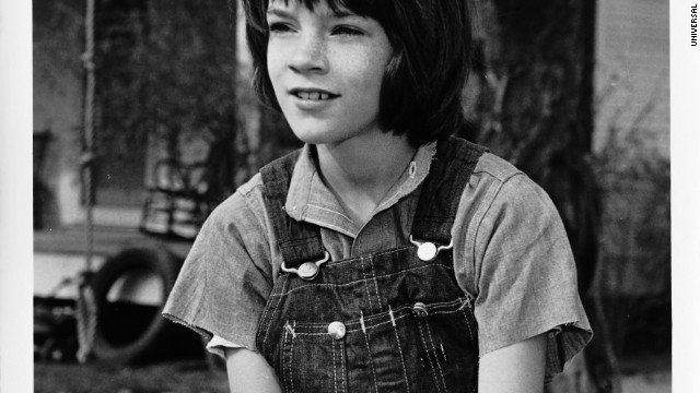 "Mary Badham as Jean Louise ""Scout"" Finch."