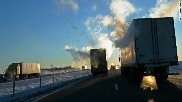 Opponents say larger tractor-trailers would not only be less safe, but would add greater stress to roads and bridges.