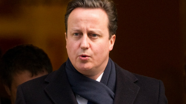 British Prime Minister David Cameron leaves 10 Downing Street in London, on February 1, 2012,