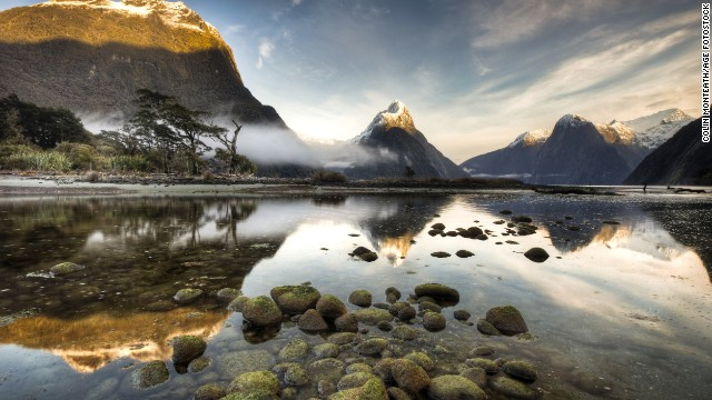 Milford Sound is the most celebrated of the 15 fjords in Fiordland National Park.