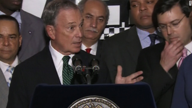 Mayor Michael Bloomberg, at a December news briefing, addresses the issue of enforcing idling rules in New York.