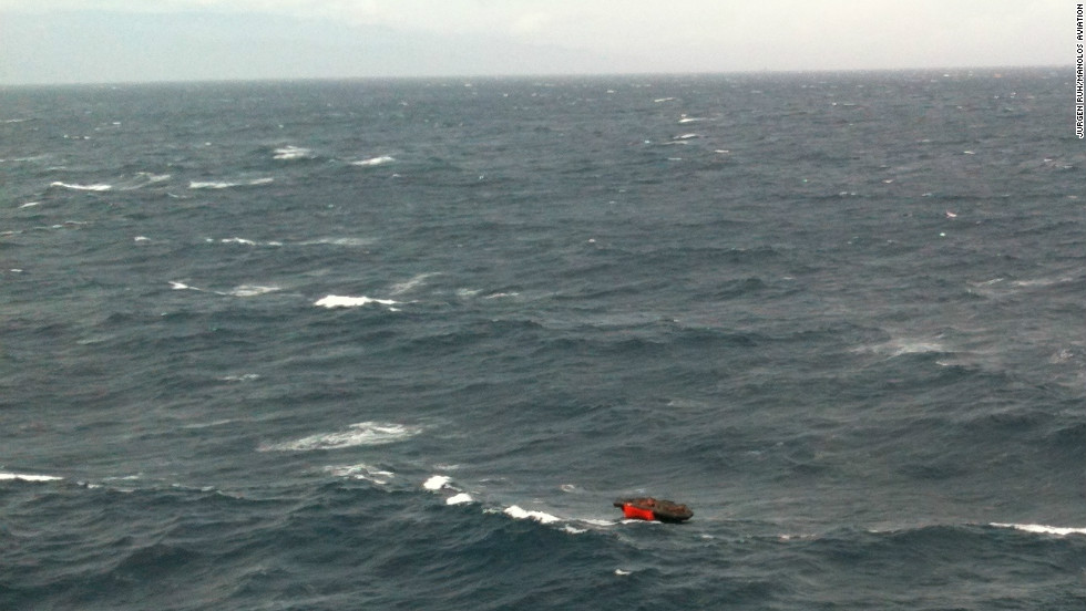 Boats and helicopters rushed to the scene to try to save scores of people left adrift at sea by the sinking.