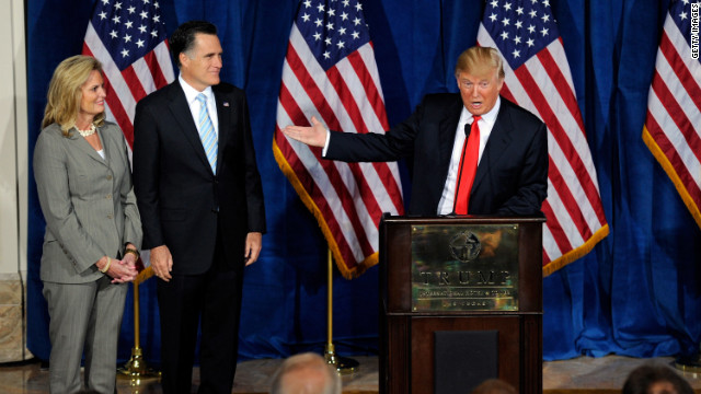 Donald Trump endorses Mitt Romney.