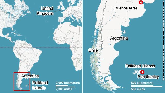 Map: Falkland Islands