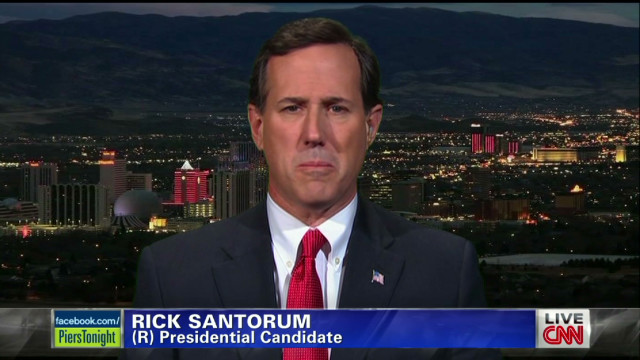 Rick Santorum addresses Mitt Romney