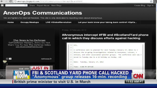 FBI & Scotland Yard phone call hacked