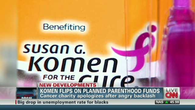 Komen flips after angry backlash