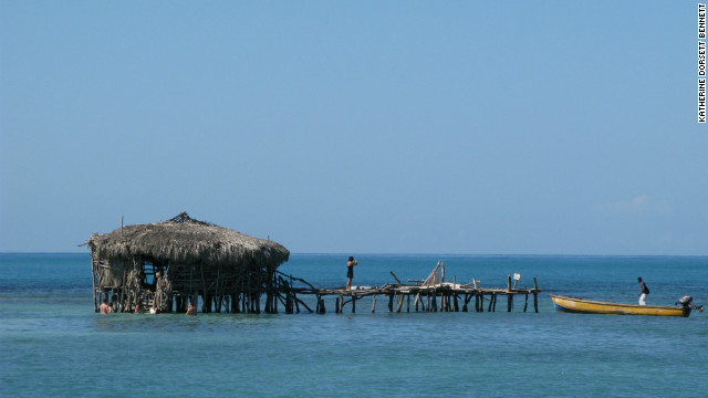Floyde's Pelican Bar in Jamaica, owned by Floyde Forbes, can only be accessed by boat.
