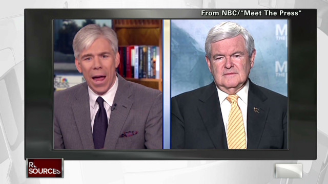 Gingrich courts media elite